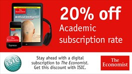 Student discount on The Economist