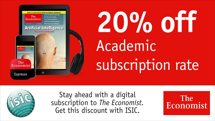 The Economist Subscription Now: $1 Per Week For The First 12 Weeks From The Economist Save on your subscription rates with low price offers from The Economist! The Economist Subscription Now: $1 Per Week For The First 12 Weeks.