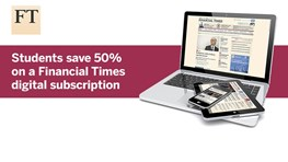 Financial Times - 50% off a digital subscription
