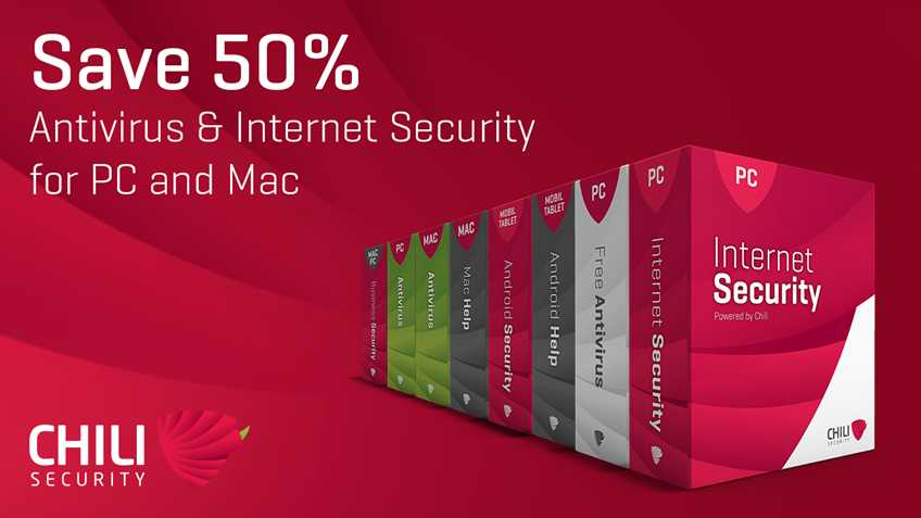 Chili Security with 50% off